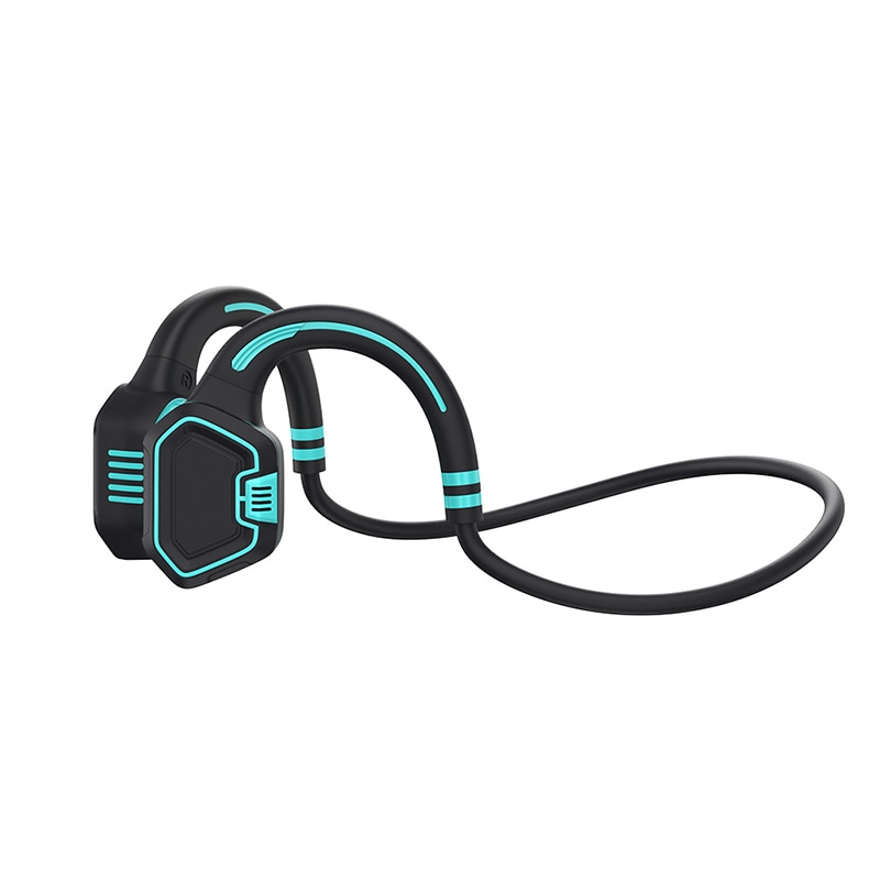 Real Bone Conduction Headphone IP68 Waterproof Wireless Bluetooth Earphone 16G Memory MP3 Music Player Swimming Sports Headset