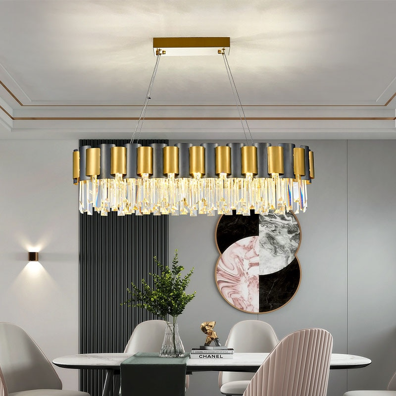 Nuevo candelabro de cristal creativo para sala de estar, iluminación de lujo...