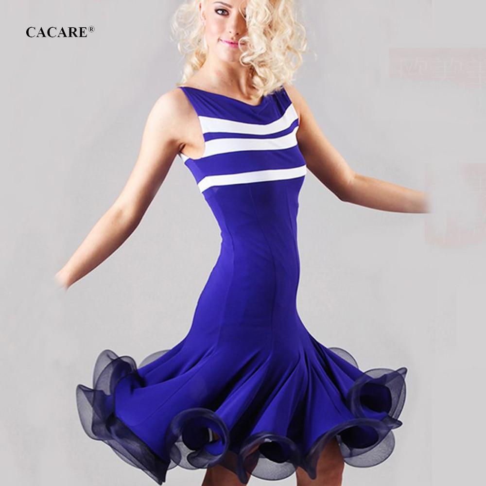Vestido de baile latino para mujeres, vestidos de competición para niñas, traje de baile personalizado D0545 con dobladillo esponjoso/814