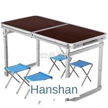 30% Portable pliable 4 chaise ensemble de Table pour cuisine à manger en plein air jardin pique-nique et Camping-avec pieds réglables