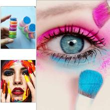 6 Colors Lasting Shimmer Eyeshadow Pigment Matte Eyeshadow Neon Powder Nail Powder