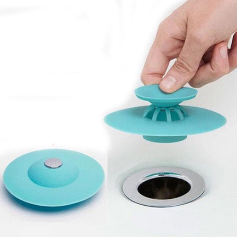 Tapón de drenaje de ducha filtro de goma círculo de silicona tapón de fregadero tapón para bañera