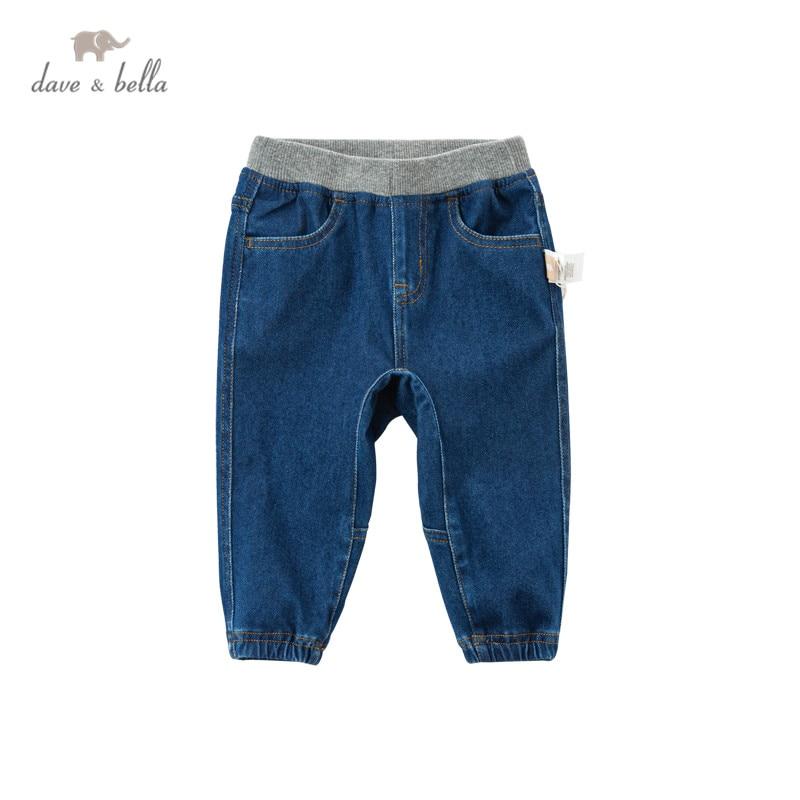 DB17701 dave bella سروال ربيعي للأطفال ، للجنسين ، موضة ، جيوب صلبة ، بنطلون أطفال كامل الطول ، ملابس أطفال