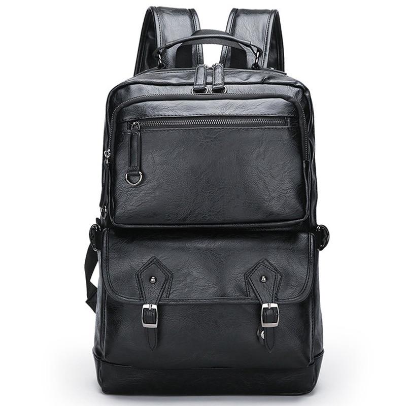 حقائب ظهر من الجلد الأصلي للرجال ، حقيبة ظهر عصرية جديدة من الجلد الطبيعي ، حقيبة ظهر للطلاب ، علامة تجارية فاخرة ، لأجهزة الكمبيوتر المحمول ...