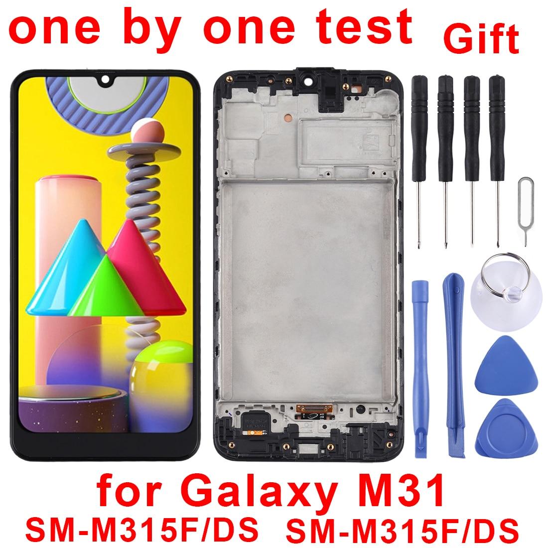 6.4 ″لسامسونج غالاكسي M31 عرض شاشة LCD و محول الأرقام الجمعية الكاملة و الإطار ل غالاكسي M31SM-M315F/DS ، SM-M315F/DSN
