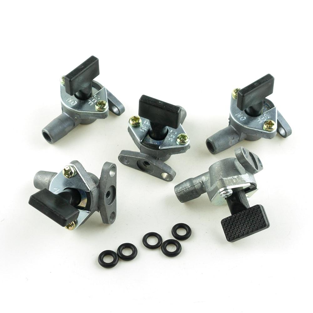 5 шт./компл. карбюратор топлива карман кран клапана бак нажмите переключатель для 2-х тактный 47cc 49cc Dirt Pit Bike ATV Quad скутер