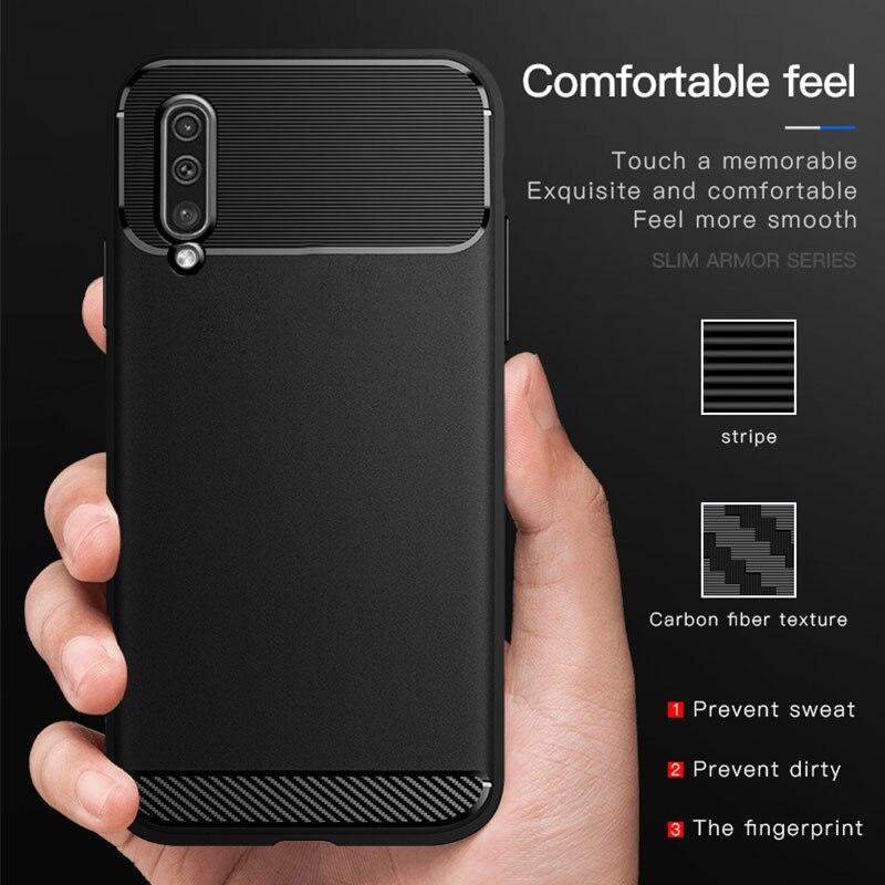 De lujo Ultra delgado de la caja del teléfono de silicona para Samsung Galaxy A10 A20 A30 A40 A50 A70 J4 J6 J8 más A750 A9 2018 A10S A50S A30S Capa