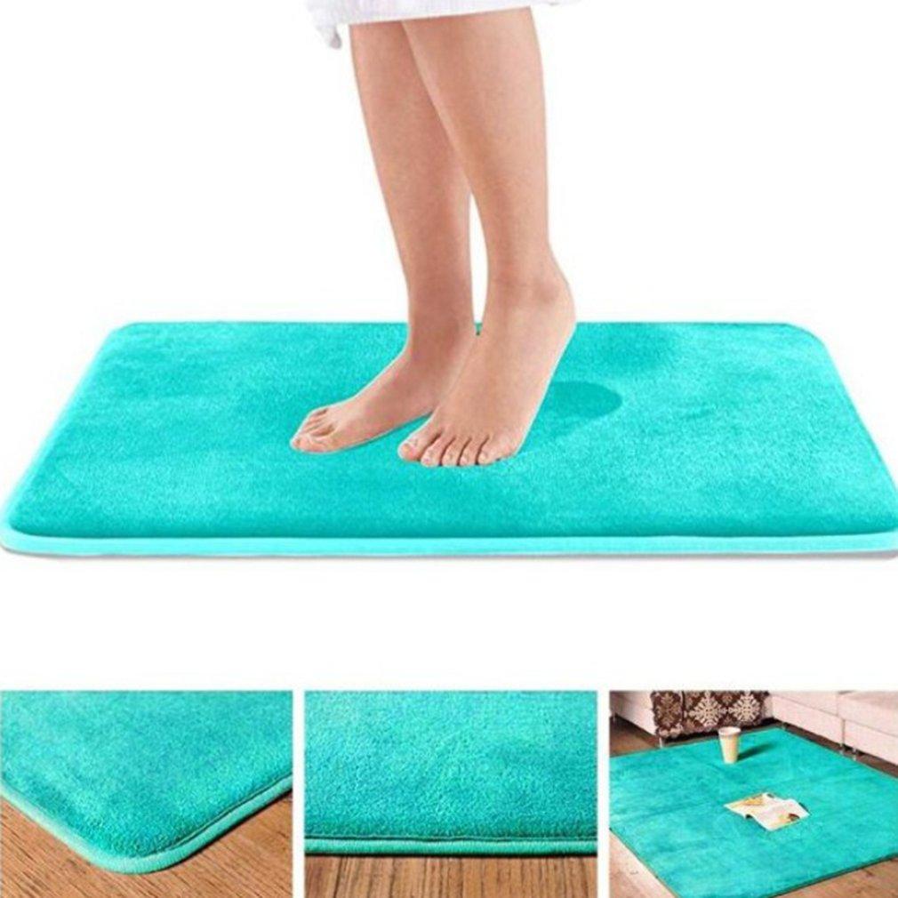 Home Bath Mat Non-slip Bathroom Carpet Soft Coral Fleece Memory Foam Rug Mat Kitchen Toilet Floor De