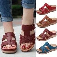 premium orthopedic sandals women men bunion corrector low heels walking sandals toe corrector cusion open toe comfy sandals
