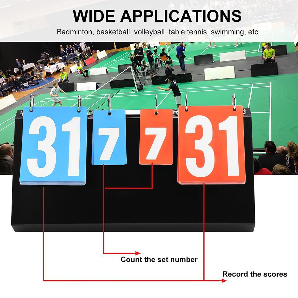 كرة السلة متعددة كرة قدم رياضية تنس طاولة الوجه 4 أرقام الريشة لوحة النتائج الكرة الطائرة المحمولة دليل مكافحة المهنية