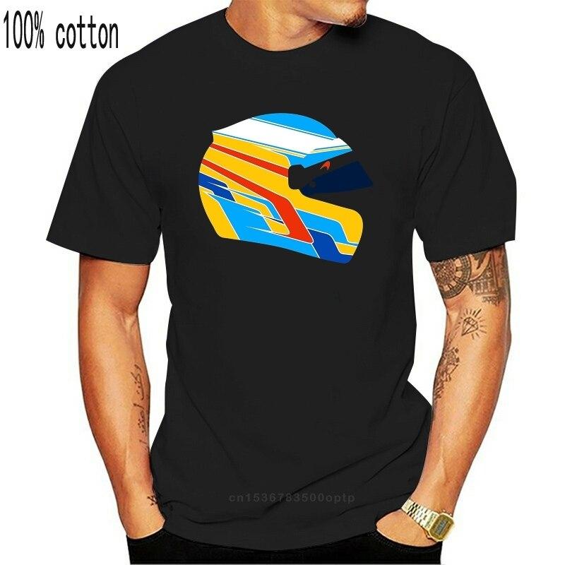 Camisa masculina t camisa de moda gráfico t fernando alonso capacete ilustração carro de corrida tshirt nova camiseta tshirt feminino