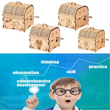 3D Wooden Puzzle Toy Music Box Model Self Assembly Wood Craft Kit for Adult and Kids Parent-Child In
