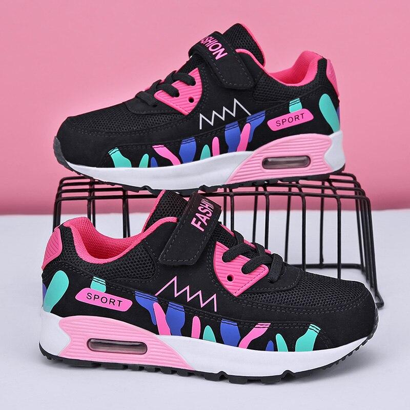 Детская сетчатая обувь, детская Весенняя спортивная обувь, детская обувь для бега для девочек, теннисная обувь для детей