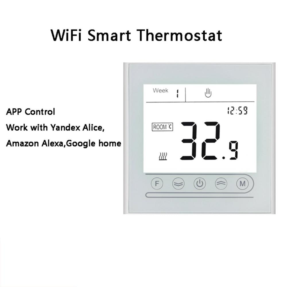 WiFi Smart Thermostat Electric Heating Temperature Controller For Gas Boiler Alexa Google Home Thermoregulator enlarge