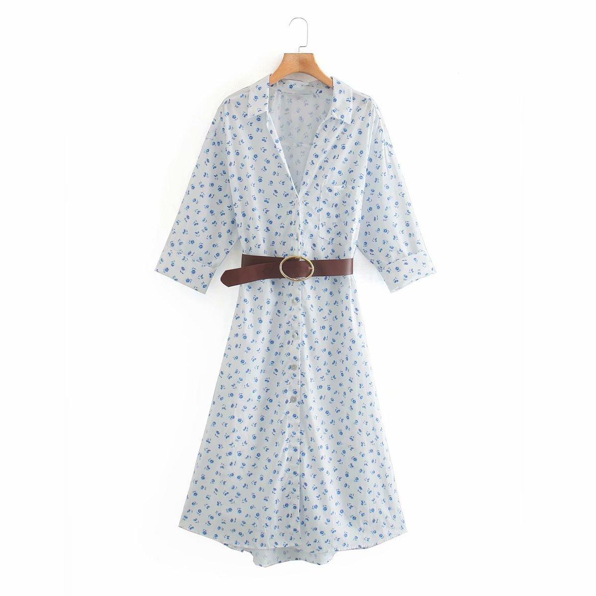 NOVEDAD DE VERANO 2020 vestido blanco azul de talla grande zaraing para mujer 2020 sheining vadiming zanzeaing zafuler para mujer Lfd9700