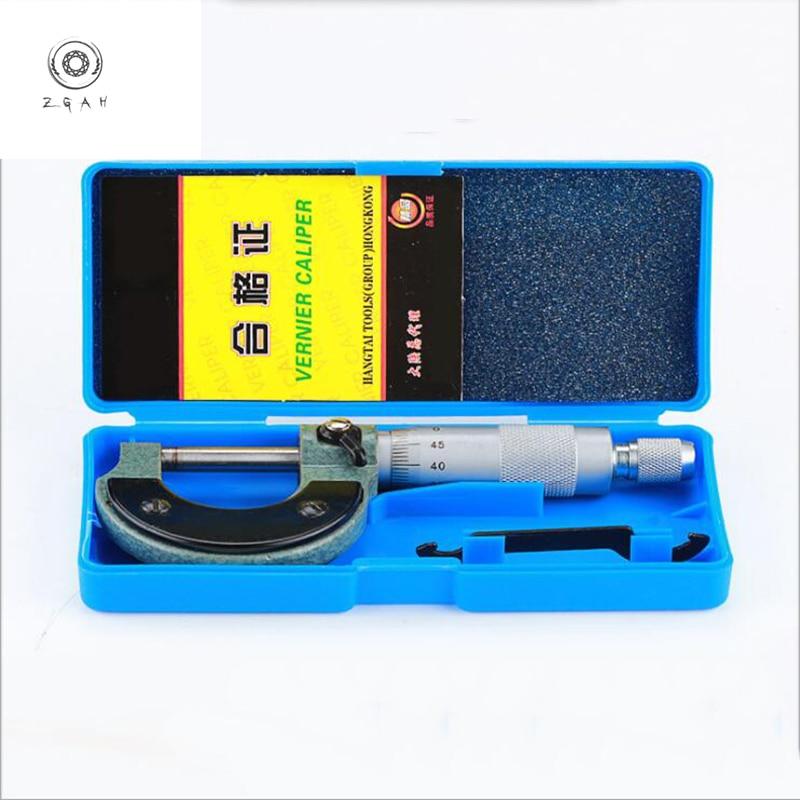 Interne mikrometer 0-25mm spiral mikrometer hohe qualität metric harte legierung gauge standard gauge mikrometer mess werkzeug