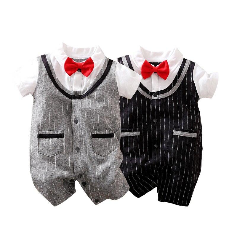 YiErYing, детская одежда, летние хлопковые комбинезоны с коротким рукавом и принтом, комбинезоны, Одежда для новорожденных мальчиков на день ро...