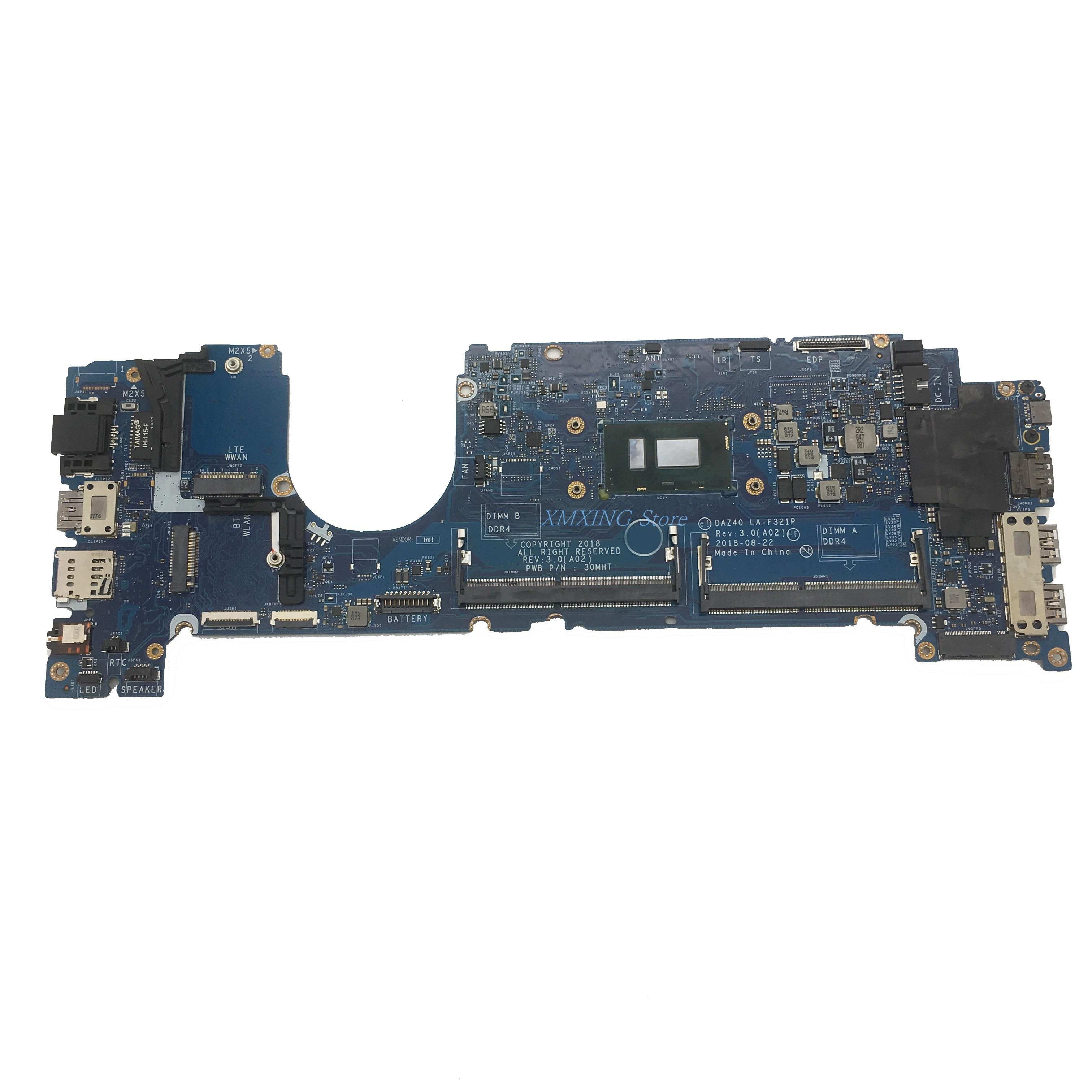 FULCOL لديل خط العرض 7490 E7490 اللوحة المحمول I7-8650U CPU LA-F321P SR3L8 CN-0PP44F 0PP44F PP44F اختبار 100% العمل
