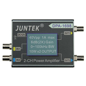 juntek amplificador de potencia c com 2 canais para gerador de sinal funcao dds