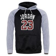 2019 Hot Sale Autumn Winter Jordan 23 Hooded Raglan Mens Streetwear Casual Hoodies Sweatshirts Hoody Male Hip Hop Sportswear
