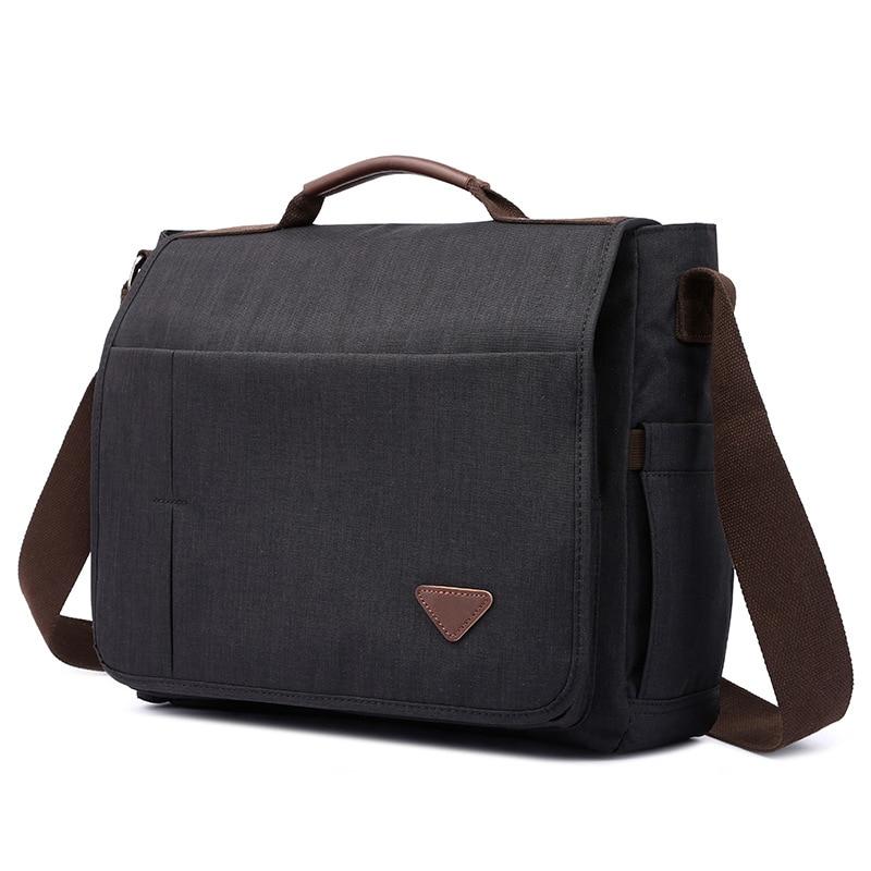 38cm Men Shoulder Crossbody Bags New Large Polyester Laptop Satchel Minimalist Casual Strong Fabric Durable Designer Wholesale