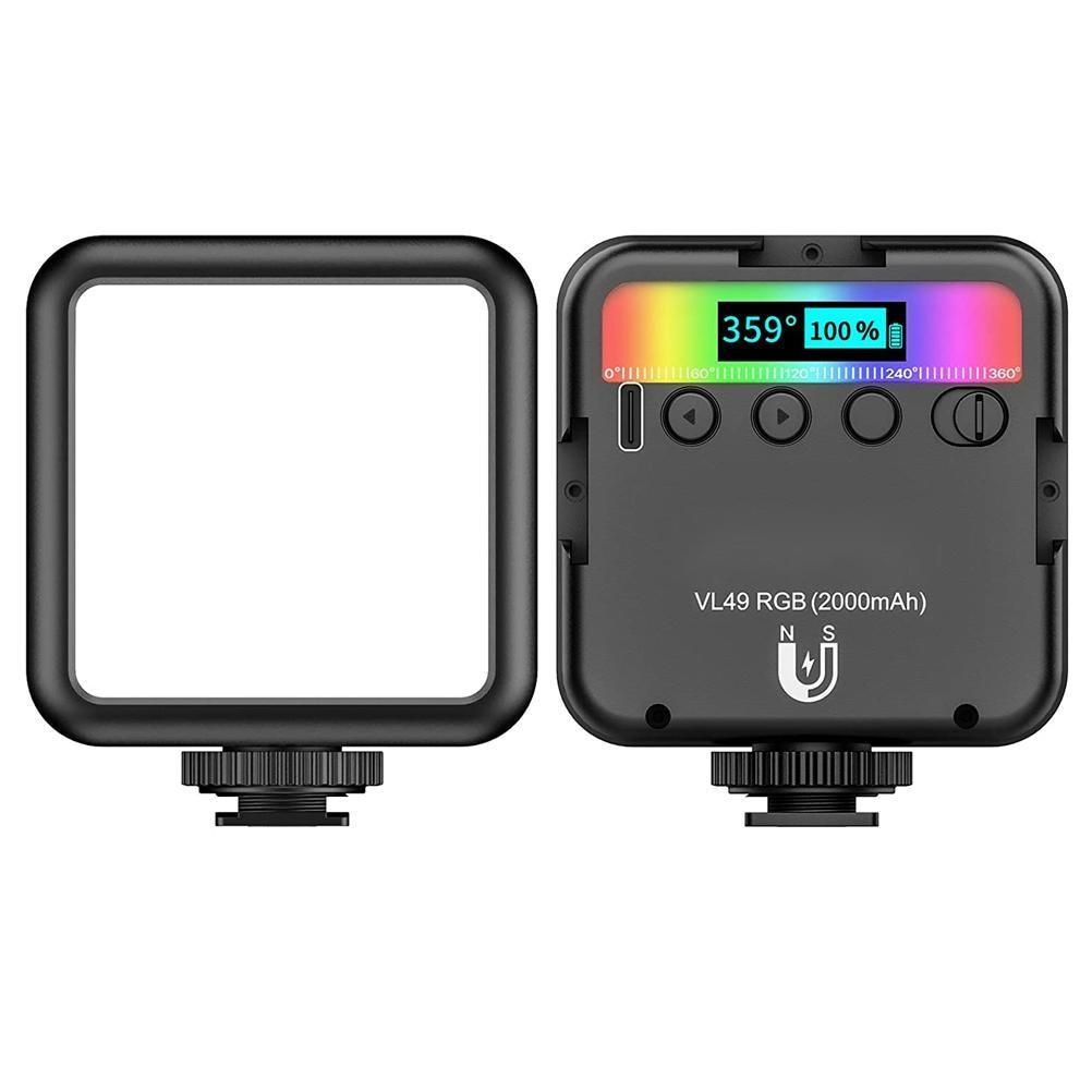 Portable Mini Video Light RGB Lighting for Photography 2000mAh Led Camera Vlog Fill