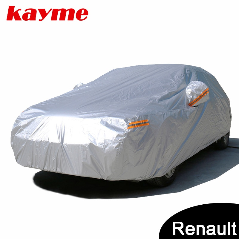 Kayme עמיד למים מלא מכונית מכסה שמש אבק גשם הגנת רכב כיסוי אוטומטי suv עבור רנו Captur קליאו הדאסטר לוגן Kadjar megane2