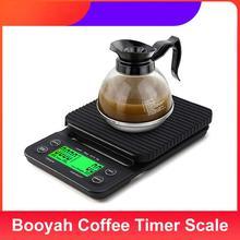 Booyah Haushalt Kaffee Timer Skala Precision Elektronische Küche Lebensmittel Waage mit Tara Funktion Drip Kaffee Skala Dropshipping