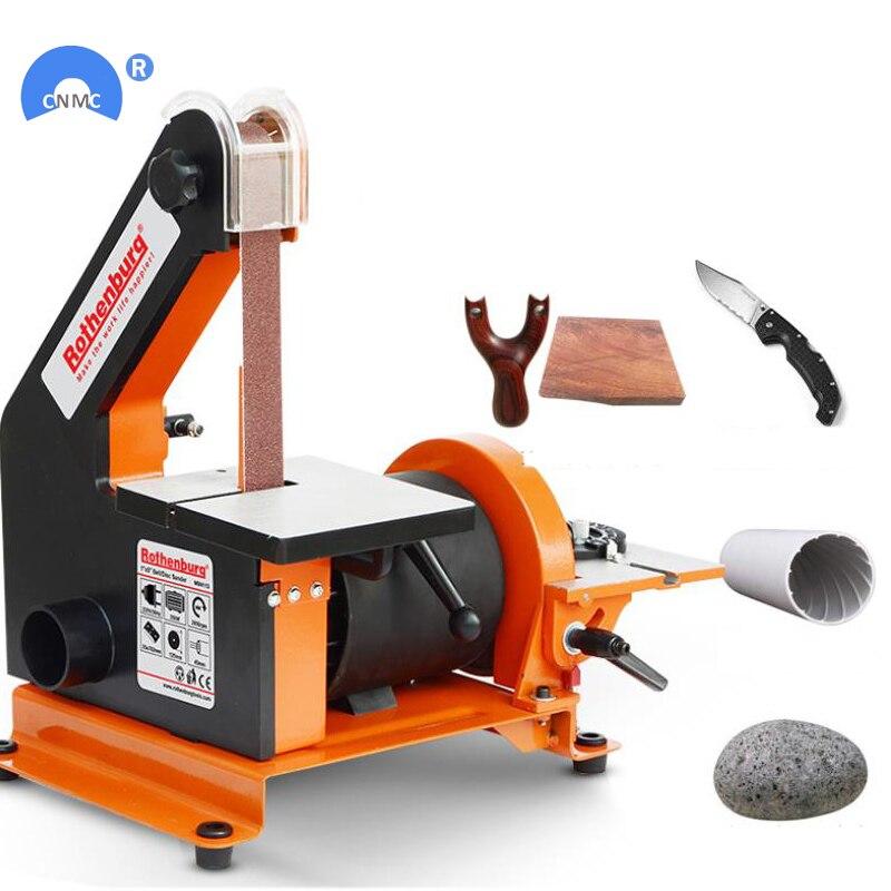 Frete Grátis 220V Desktop máquina lixadeira Para Madeira DIY Pequeno correia abrasiva polimento moedor afiador de facas