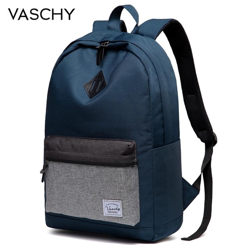 Vasky мужской рюкзак повседневный школьный рюкзак для мужчин женщин водостойкий прочный легкий рюкзак для работы мужской рюкзак