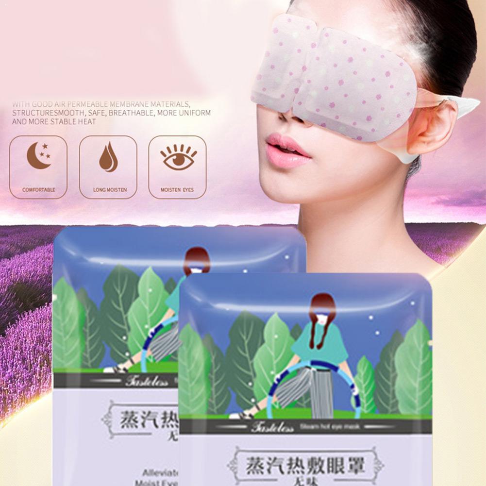 Lavanda vapor máscara de ojos baja temperatura caliente sueño quitar ojo cuidado bolso oscuro ojo envejecimiento ojo máscara Anti Relieve círculo grasa G6G2