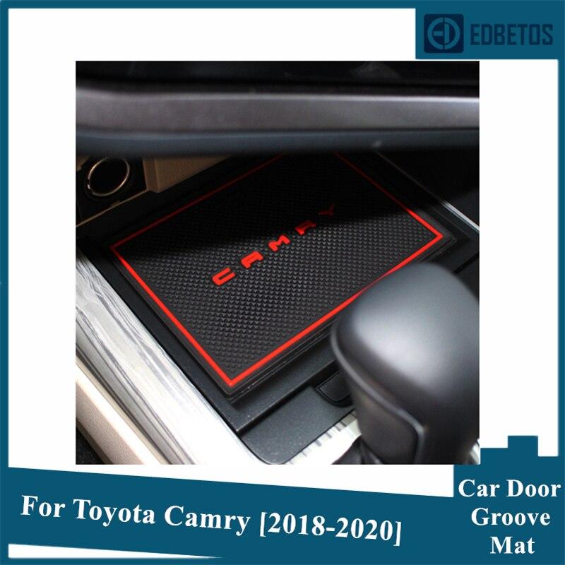 Anti-Slip Mat For Toyota Camry 2018 2019 2020 SE XSL XSE XV70 70 Daihatsu Altis Gate Slot Coaster Anti-Dirty Door Groove Mat