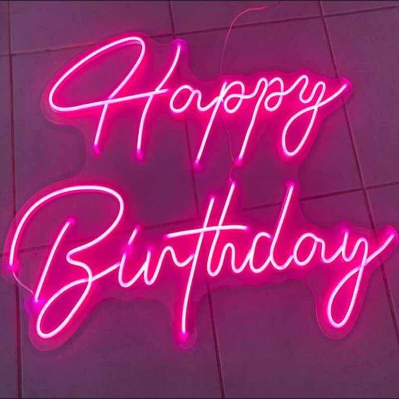 مصابيح إضاءة ليد مخصصة عيد ميلاد سعيد مرنة النيون ضوء تسجيل الديكور شريط المنزل جدار غرفة نوم ديكور كول نيونز مصباح