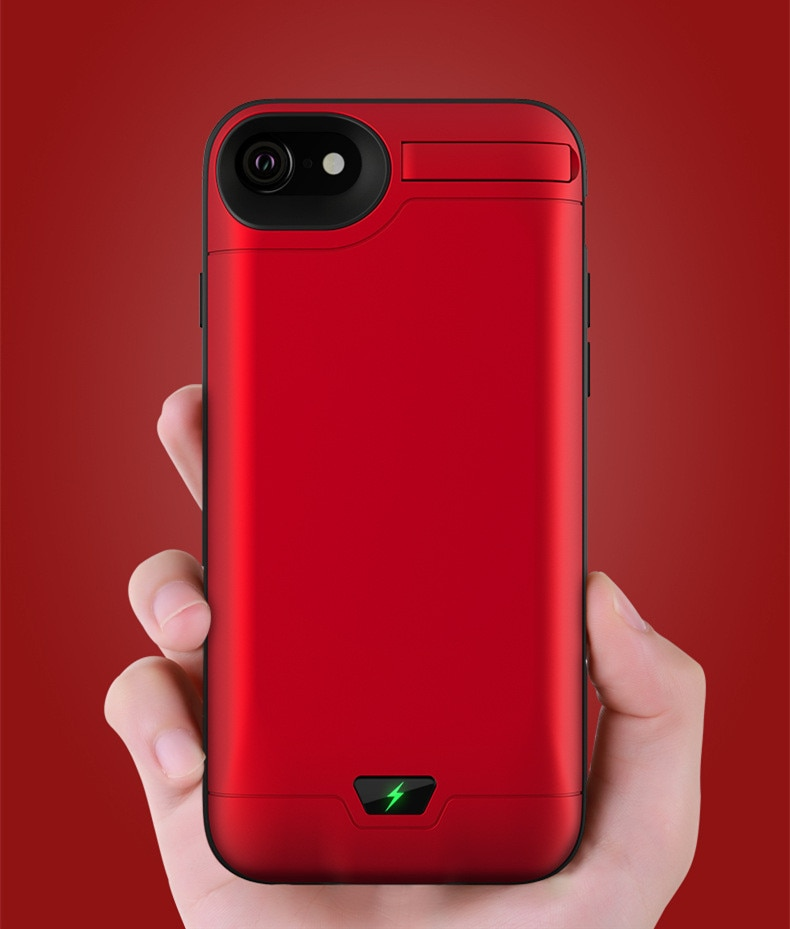 20000mah Snelle telefoon oplader Voor iPhone 6 7 8 plus 5.5inch Batterij Case Power Bank Cover Draagbare Oplader batterij Pack case