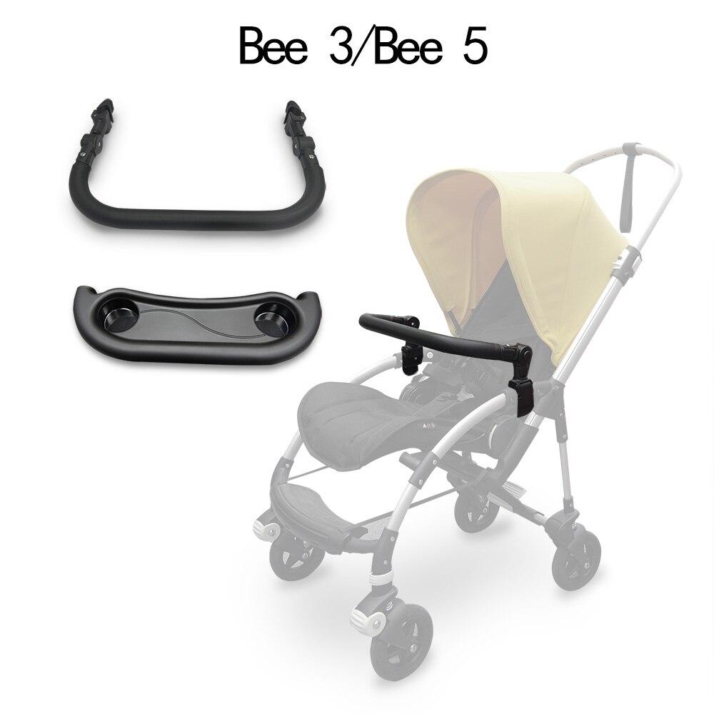 مسند ذراع عربة الأطفال ، طبق العشاء ، لـ Bugaboo Bee3/5 و Babyzen Yoyo Yoya PU ، مسند اليد EVA ، شريط ممتص الصدمات