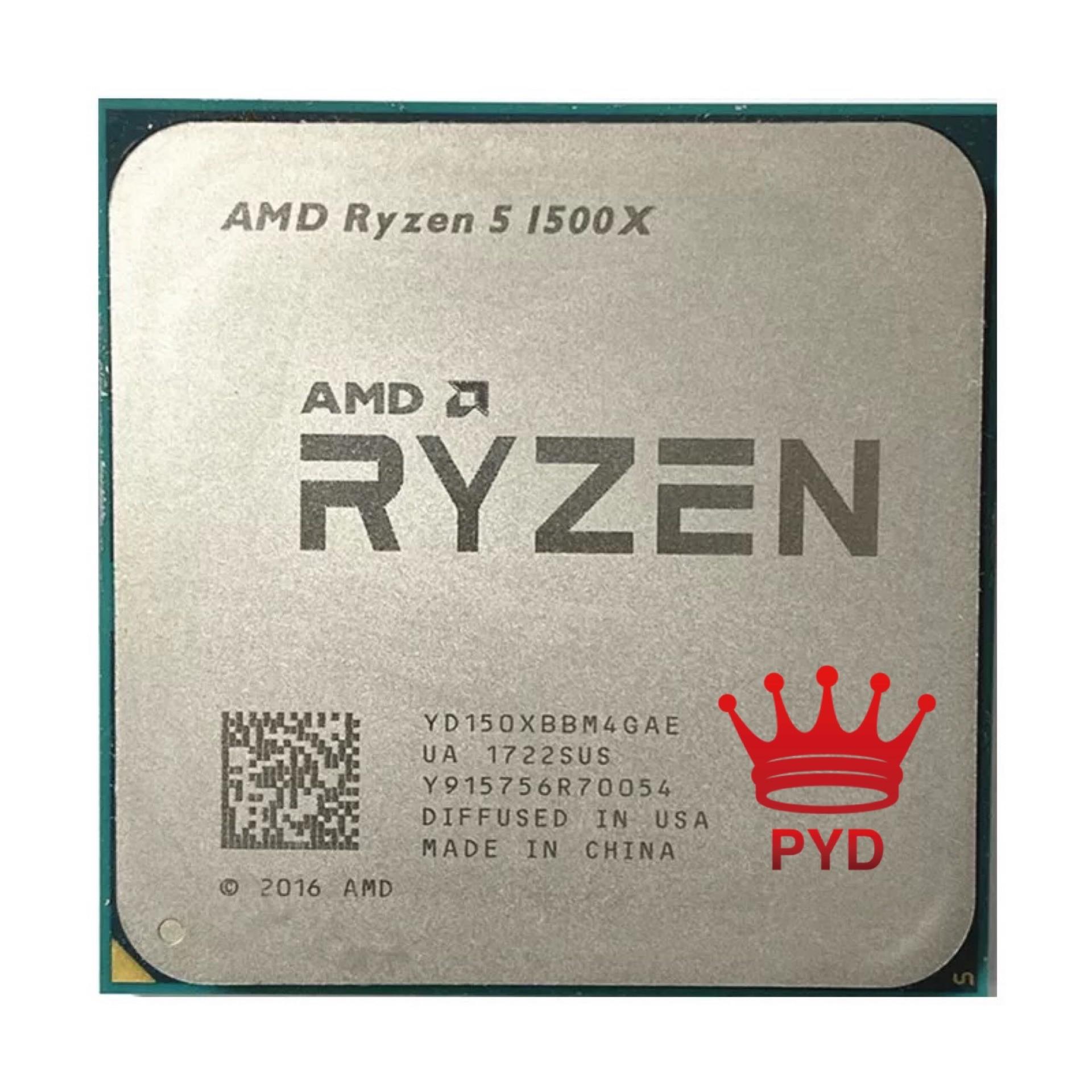 [해외] AMD-Ryzen 5 1500X R5 1500X 3.5 GHz 쿼드코어 8 코어 CPU 프로세서, L3 = 16M 65W YD150XBBM4GAE 소켓 AM4