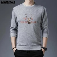 top quality new brand casual fashion crewneck graphic pullover hoodie with no hood men autumn trendy sweatshirts men clothing