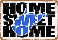 SRongmao     signe en metal 8x12  bleu  pour la maison