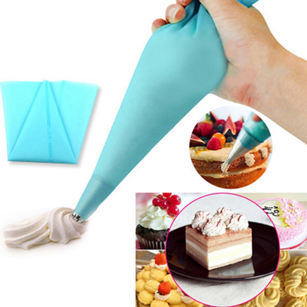 Cake Decorating Tips Set Icing Piping Cream Pastry Bag with 6pcs Stainless Steel Nozzle Set DIY Cake Decorating Tools Piping Bag