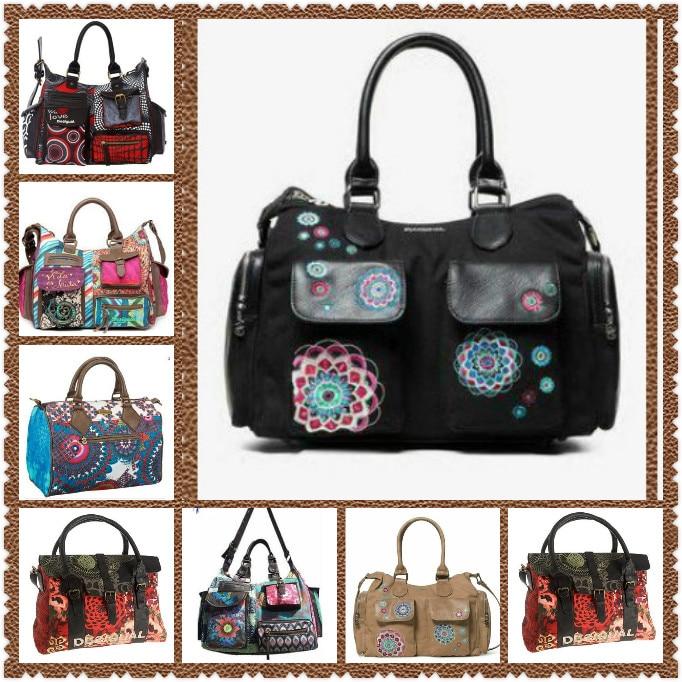 2021 new-spain vintage canvas shoulder cross body handbag women shoulder messenger bags