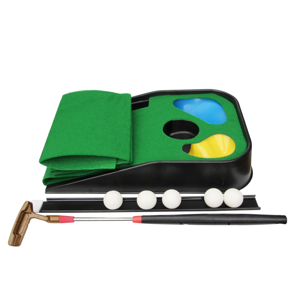 Golf Putting Mat Set Kids Mini Golf Game Practice Equipment Toy for Home Office Backyard Indoor Outdoor Use