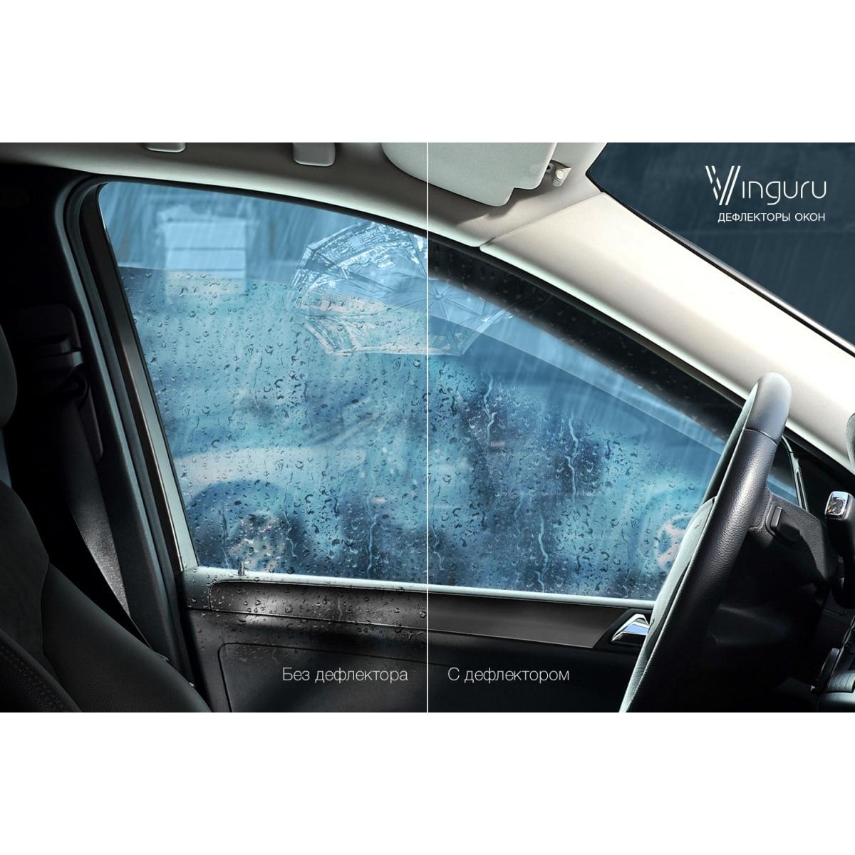 Deflectores de ventana vinguru Nissan Tiida 2004-2014 algodón falso tape-T