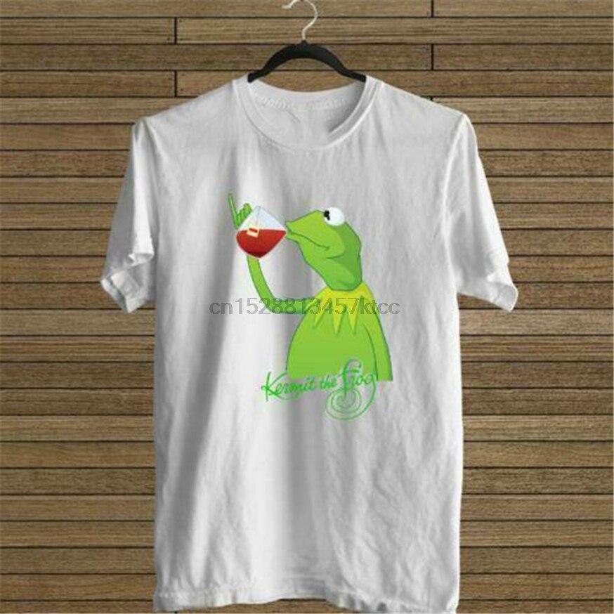 New Kermit The Frog Drink Tea White Tee Usa Size S M L Xl 2Xl 3Xl T-Shirt En1 Custom Special Print Tee Shirt