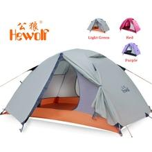 Hewolf 1595 extérieur Double couche ultra-léger en aluminium pôle imperméable coupe-vent Camping tente 2.51KG plage tente Barraca