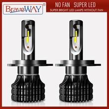 BraveWay H4 LED H7 H11 H1 H3 9005 9006 Voiture AMPOULES DE PHARES LED Salut-Lo faisceau 72W 8000LM 6500K Ampoule antibrouillard S2 H7 LAMPES Auto Moto
