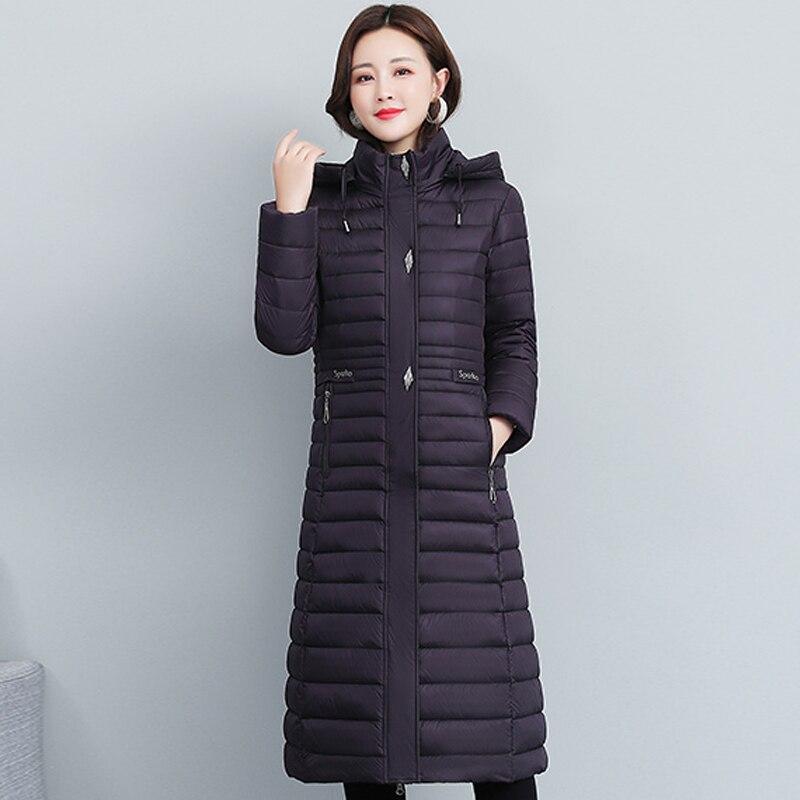 Зимние длинные парки с хлопковой подкладкой, женские толстые теплые зимние куртки, женское свободное однотонное зимнее пальто на молнии, же...