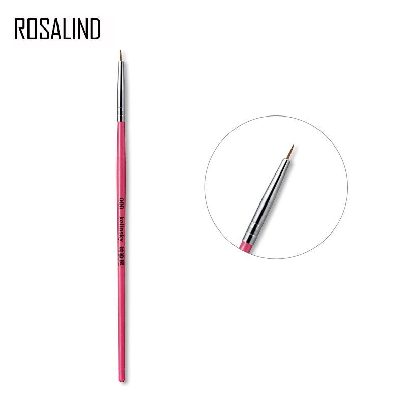 ROSALIND Manicure Brushes For Acrylic Powder LED UV GEL Varnish Brush Nail Art Design Manicure Tool Nail Brush Kit