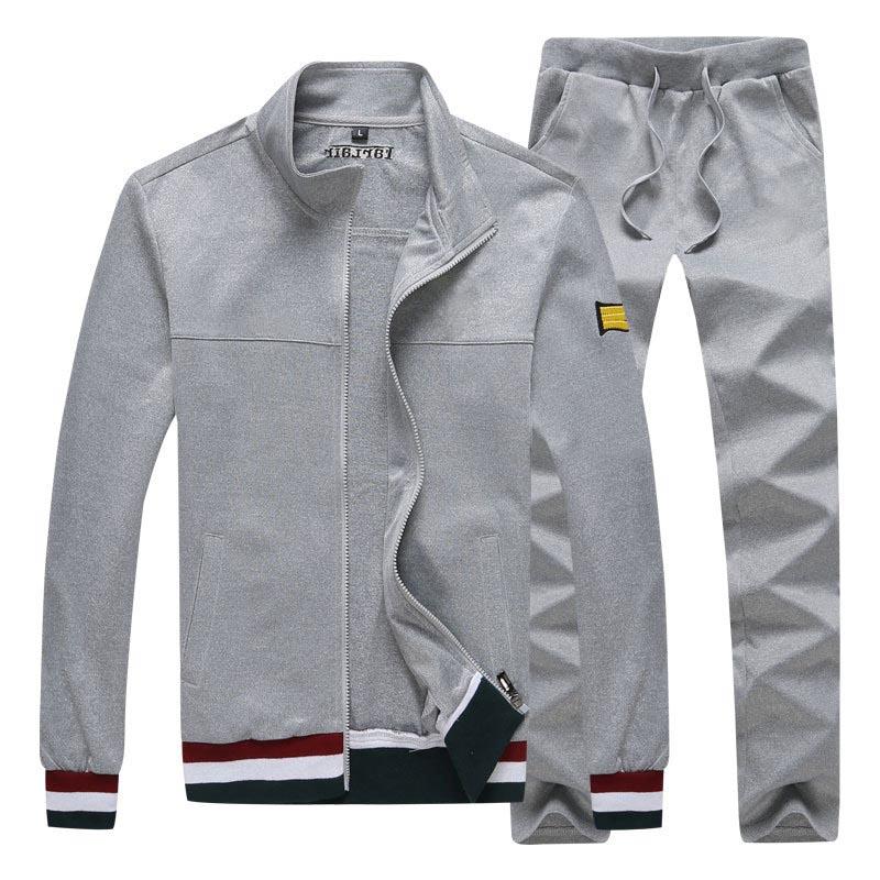 Sweatshirts Casual Men Fashion Tracksuit Jackets + Pants Men's Sweater Autumn and Winter Sweatshirt