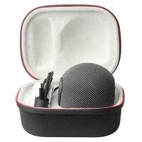 Haut-parleur intelligent protection coque rigide boite son haut-parleur resistant aux chocs sac de rangement pour Apple HomePod Mini etui de transport