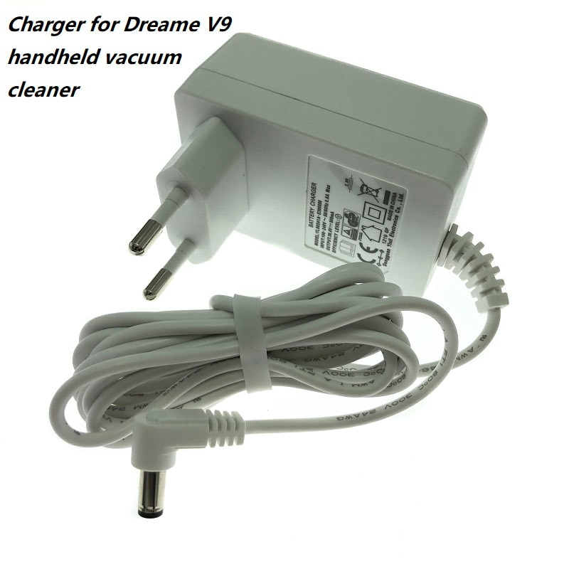 Power Adapter with EU plug for Xiaomi Dreame V9 Wireless Hand Held Vacuum Cleaner V9 V10 Charger Rep